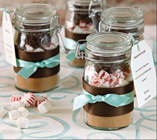 DIY Hot Chocolate with Crushed Peppermint Candies | 40 DIY Gift Basket Ideas for Christmas | Handmade Gift Ideas for Christmas
