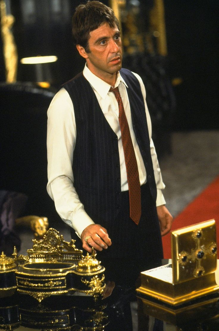 Scarface [1982] directed by Brian DePalma, starring Al Pacino, Steven Bauer, Michelle Pfeiffer, Mary Elizabeth Mastrantonio, Robert Loggia, Miriam Colon, F. Murray Abraham, Paul Shenar, and Harris Yulin.