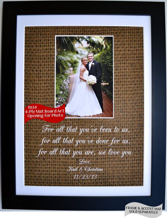 Beautiful Parent Wedding Gift To Thank Them For Their Support Show Mom And Dad Love