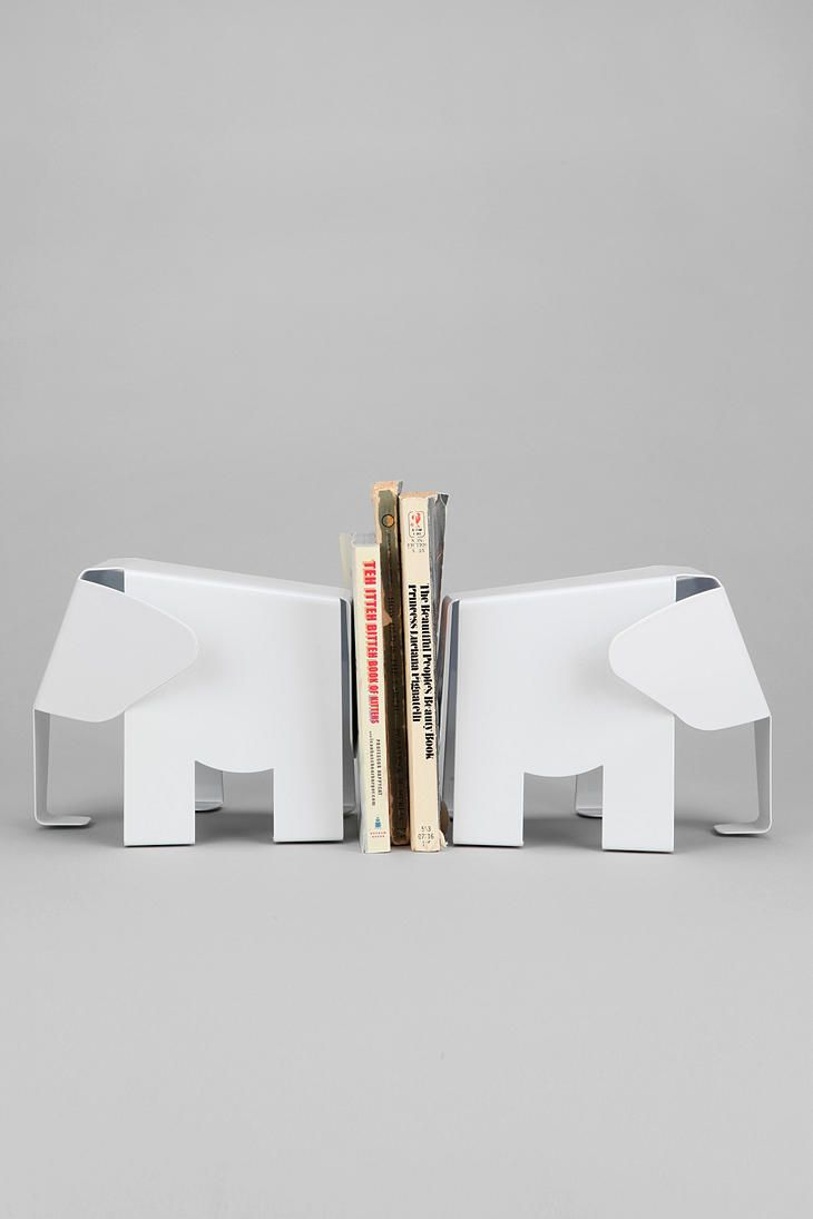 Elephant Bookends.
