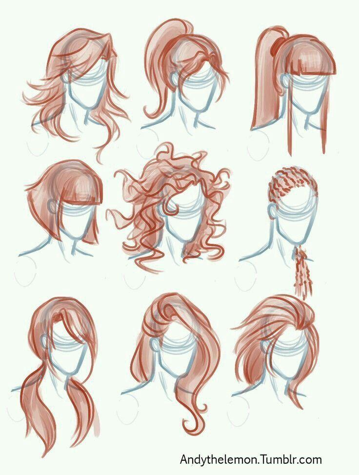 Anime Manga Girl Hairstyles How To Draw Hair Drawings Hair Sketch