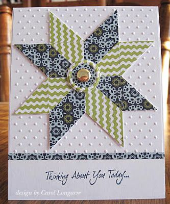 Another great way to use scraps based on Ohio Star quilt pattern from Our Little Inspirations blog.
