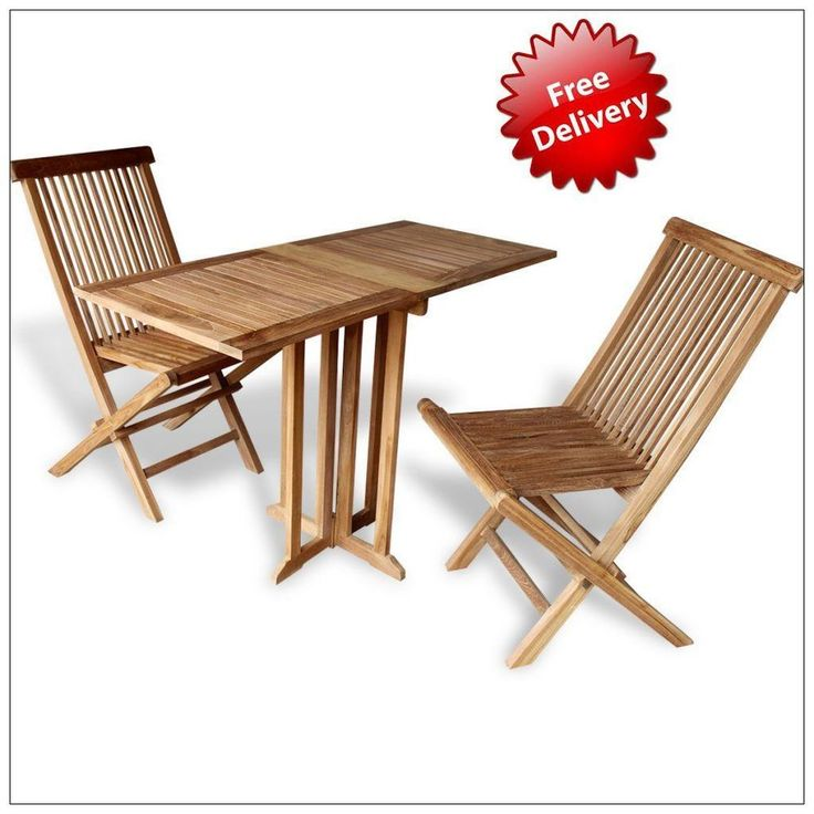 Balcony Bistro Set Furniture 2 Seater 3PC Wooden Foldable Garden Patio  Dining. 191 best Garden Furniture images on Pinterest   Garden furniture