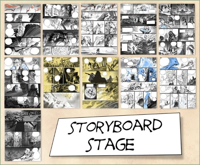 Best Art Storyboards Visual Development Graphic Novel Layout