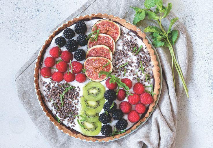 Glutenfri og vegansk sensommer tærte