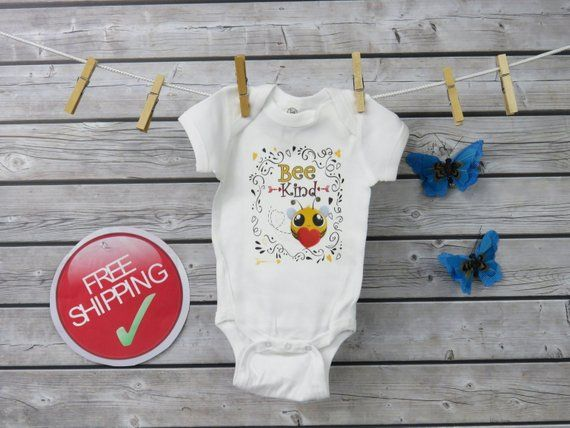 Cute Bee Kind Infant Bodysuit Baby Shower Gift
