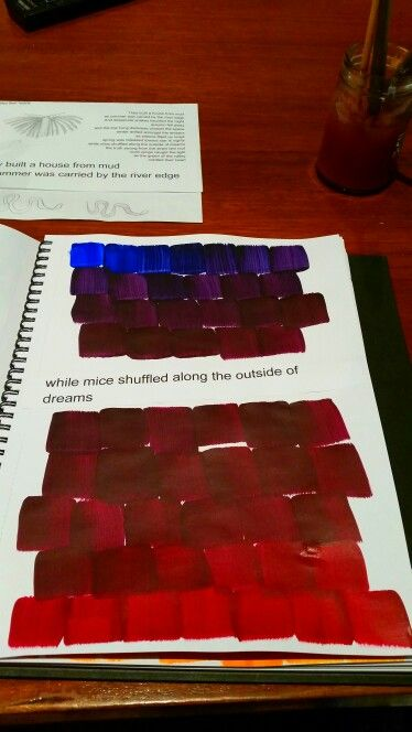 Colour mixing #blue/red