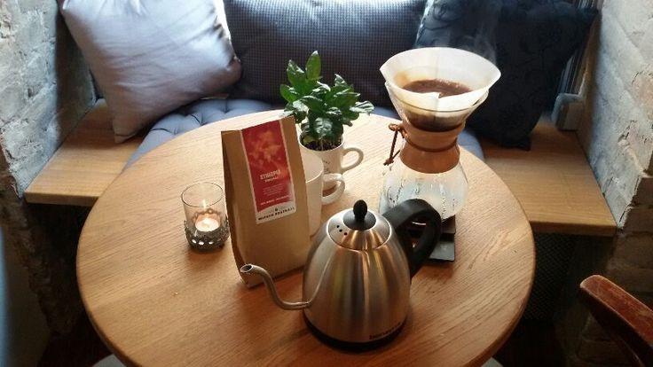 #Chemex #Coffeemaker, Kettle #Hario, #Coffee Ethiopia