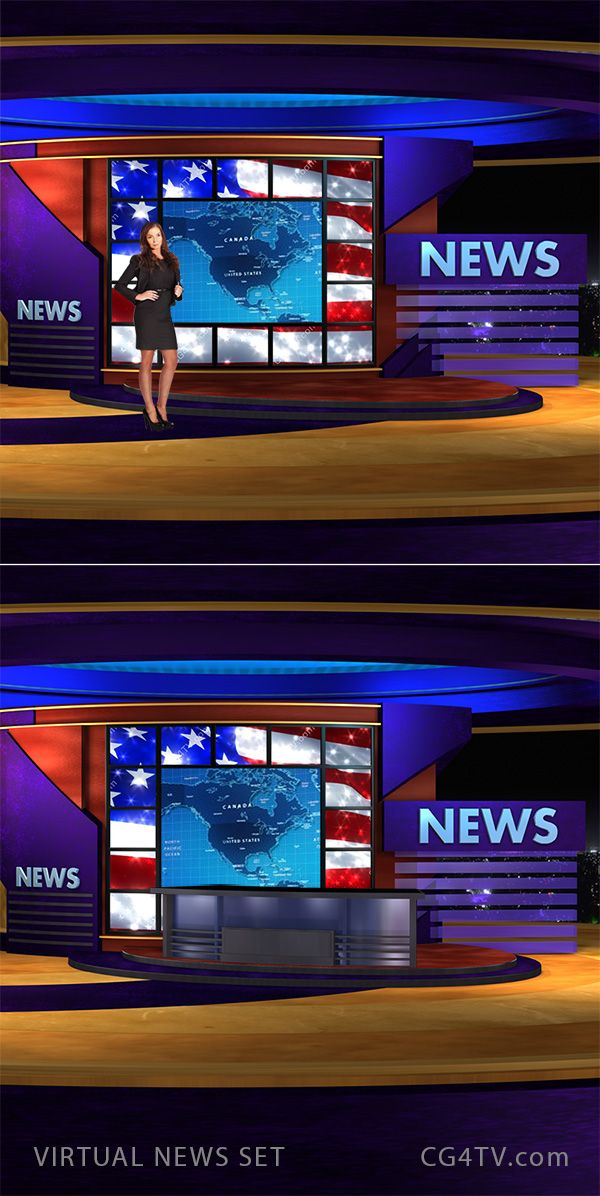 Virtual Design Room Online Free: Animated 3D Virtual News Set. #Newsroom #3D #Template