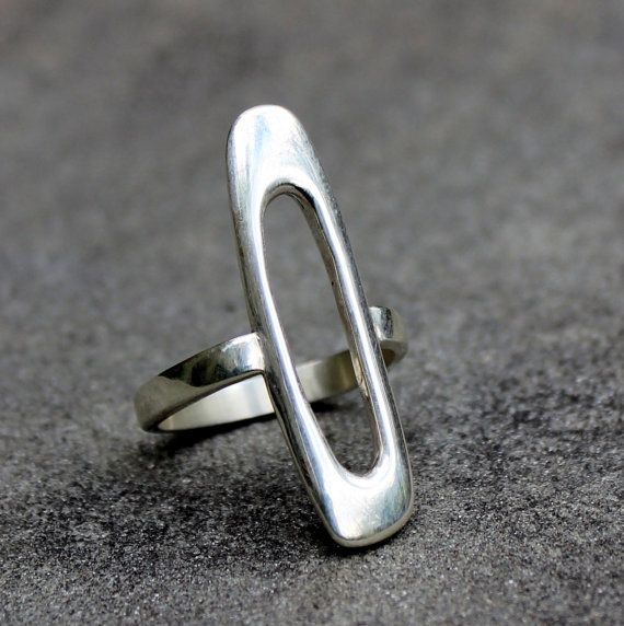 Sterling Silver Ring Modern Sterling Silver Ring by lsueszabo