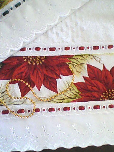 pintura de natal em toalha de rosto