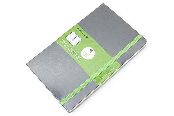 Moleskine+Evernote+Classic+Notebook+-+Large+-+Ruled+-+Gray