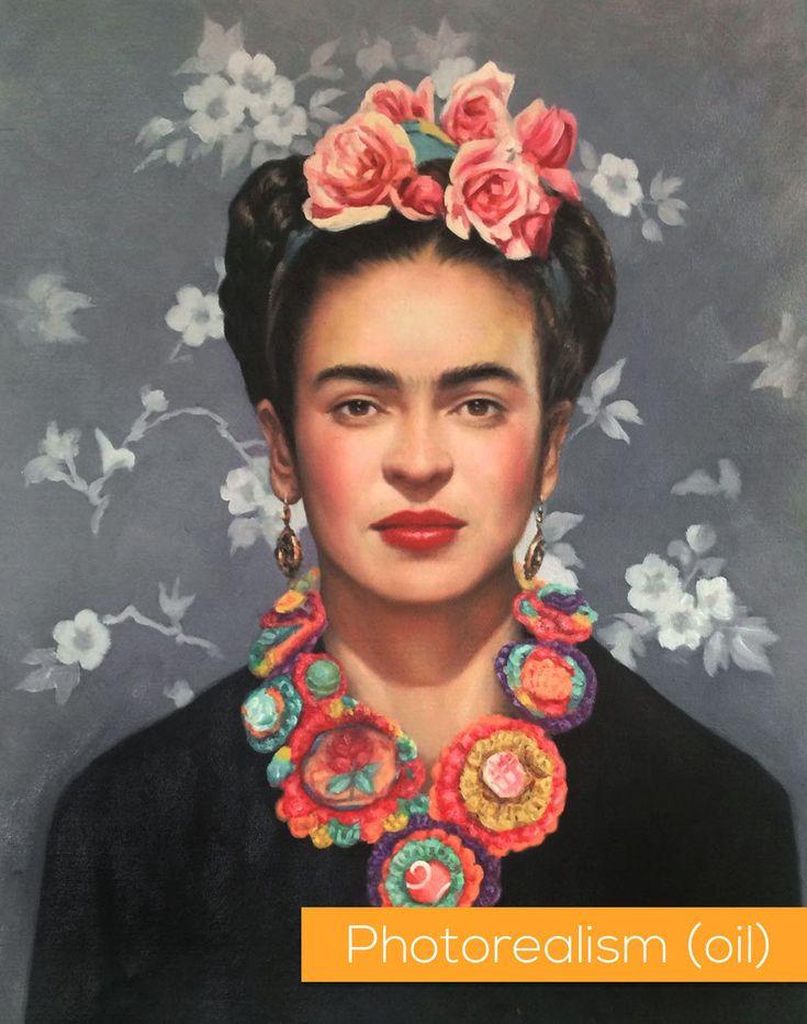 Frida Kahlo portrait original paintings and fine art prints