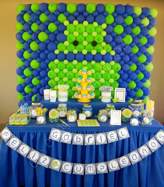 Android themed birthday - party decor inspiration