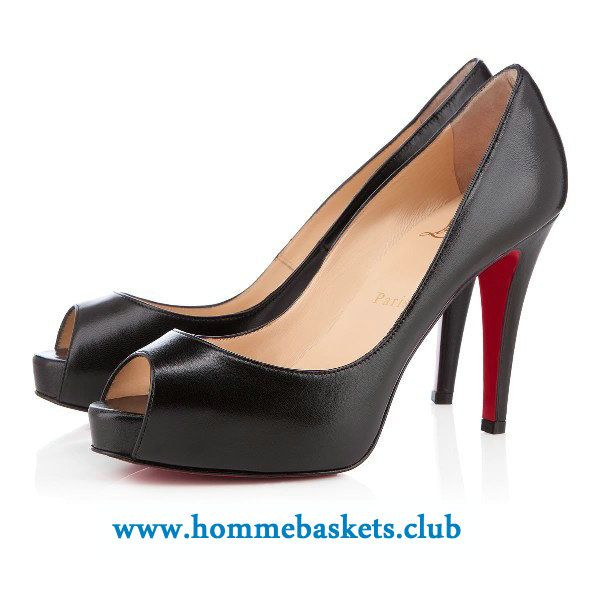magasin en ligne dcd63 a1d3b Christian Louboutin Femme Very Prive Kid 100 mm Noir ...