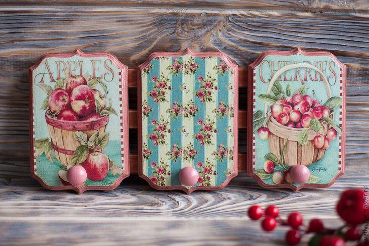 """Купить Вешалка """"нежное утро"""" - розовый, вешалка, вешалка для кухни, Вешалка для полотенец, вешалка для ключей"""
