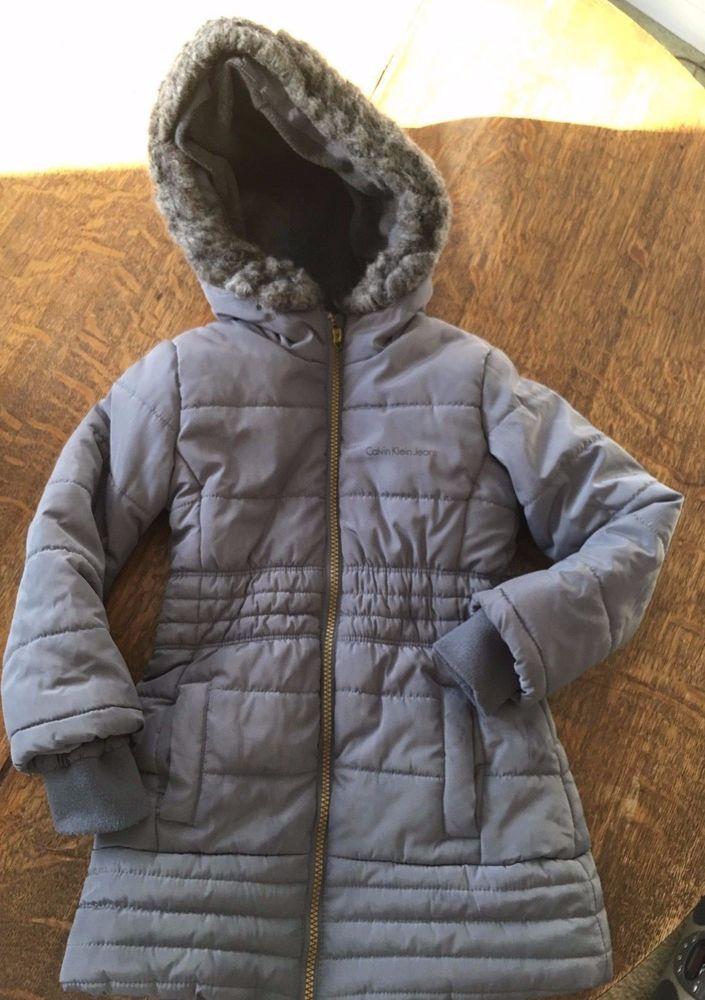 5d536d429280 Calvin Klein JEANS TODDLER GIRLS SIZE S P 4 PUFFER COAT  fashion ...