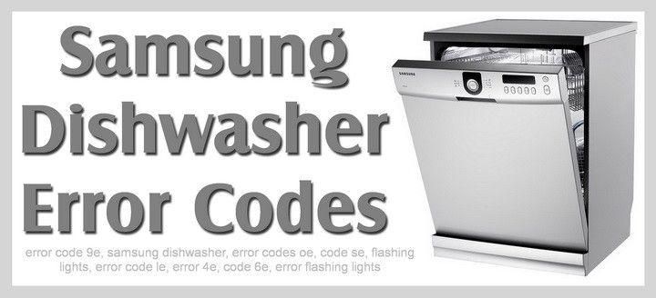 Samsung Dishwasher Error Codes Diy Home Maintance