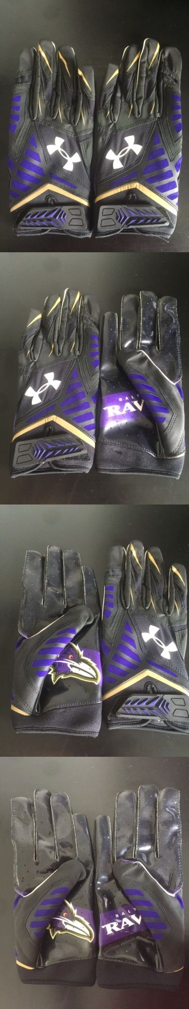 Gloves 159114: Under Armour Baltimore Ravens Nfl Nitro Warp Football Receiver Gloves Adult Xl -> BUY IT NOW ONLY: $30 on eBay!