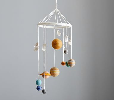 Planet Wool Ceiling Mobile Hanging Mobile Pottery Barn