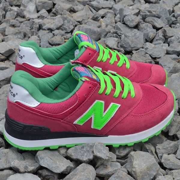 New Balance 574 Fuşya - Yeşil | BAYAN AYAKKABI | Spor | New balance kadın ayakkabıları - En uygun fiyata | Nelazimsa.net