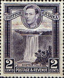 British Guiana 1938 King George VI SG 309 Kaieteur Falls Good Used SG 309 Scott 231b Perf 12 5 Other West Indian Stamps HERE