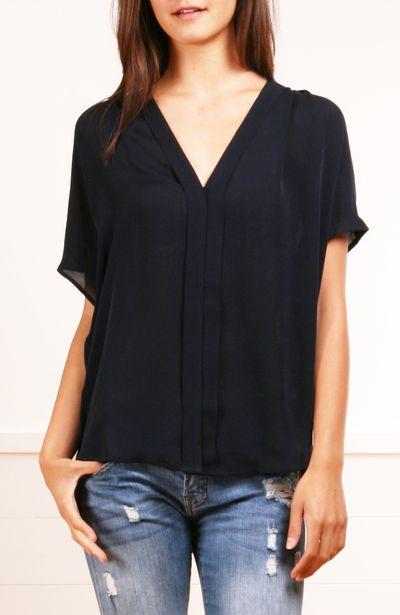 black sheer blouse, silk blouse, #black sheer on jeans