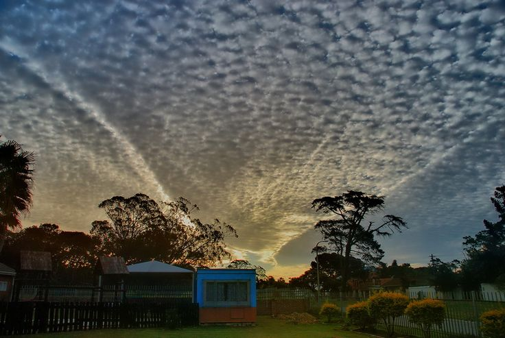 Pretty clouds over my local church in Port Elizabeth.