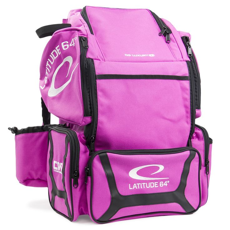 Latitude 64 DG Luxury E3 Pink and Backpack Disc Golf Bag