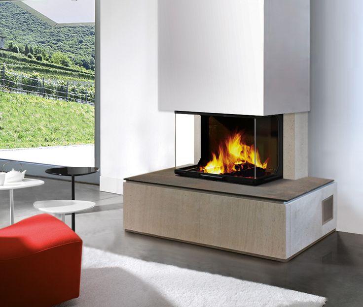 chemin e kimo en pierre d 39 espagne et foy re en c ramique. Black Bedroom Furniture Sets. Home Design Ideas