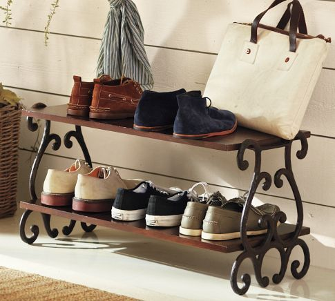 Pottery Barn Shoe Rack. Got To Be Able To DIY This With Considerably Less  Expense