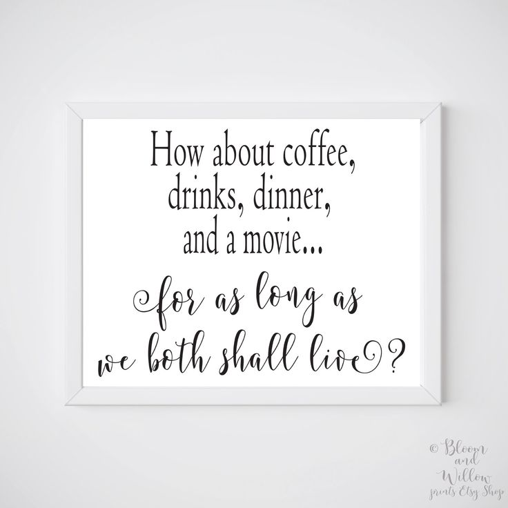 PRINTABLE Art You've Got Mail - How about coffee, drinks, dinner...for as long as we shall live? Tom Hanks Quote , You've Got Mail Quote by BloomAndWillowPrints on Etsy https://www.etsy.com/listing/478324599/printable-art-youve-got-mail-how-about