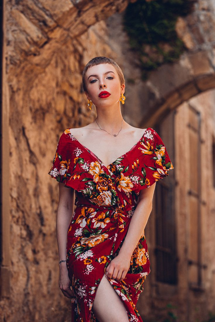 blumen sommerkleid rot wickelkleid blumenkleid kleider