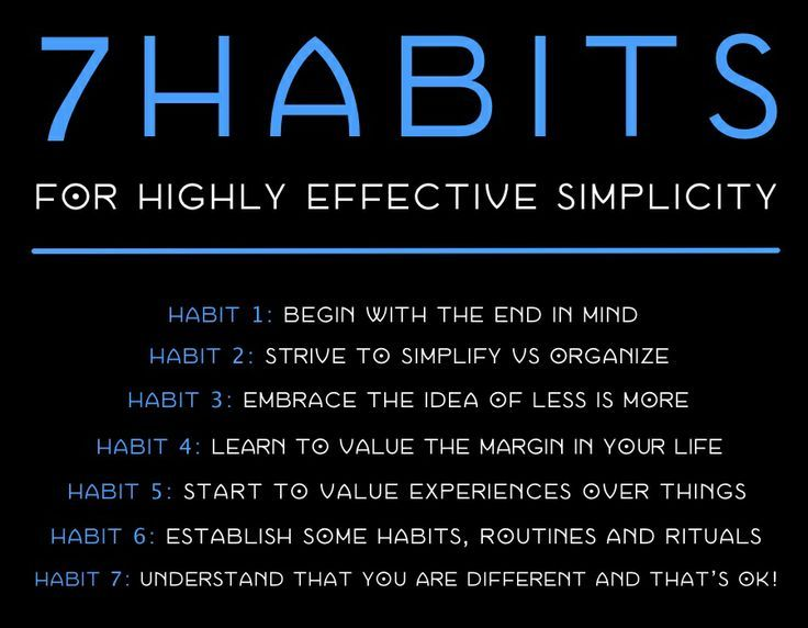 7 habits for highly effective simplicity