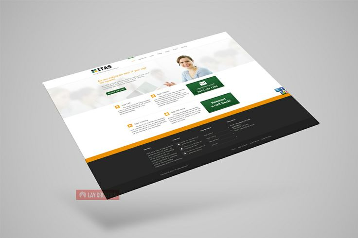 Website design and development for 'ITAS', consultant firm for Sage accounting software (UK)
