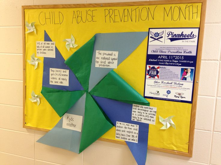 Child abuse prevention, awareness, April, PCAA, pinwheels, bulletin board, RA, reslife, 3D, creative