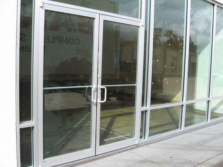 We repair and install storefront doors for restaurants for Commercial aluminum storefront door