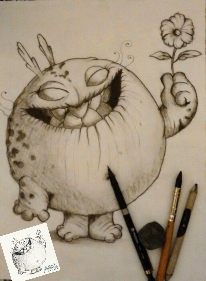 Aprendiendo a dibujar con los sorprendentes dibujos de Chris Ryniak puedes ver su maravilloso mundo en http://www.chrisryniak.com en mi caso utilicé portaminas 0,7mm, lápiz de carbonilla y esfumino...