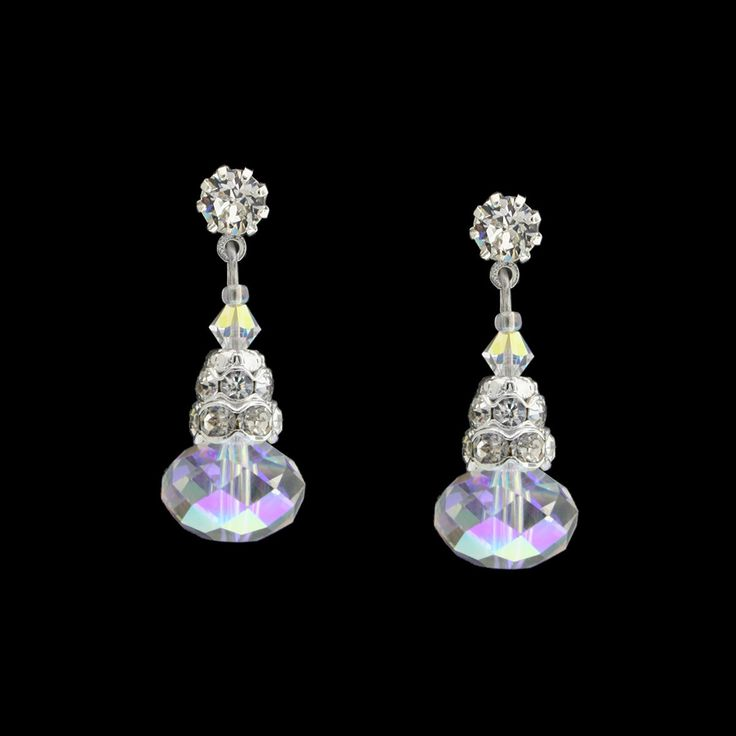 Crystal Briolette Drop Earrings