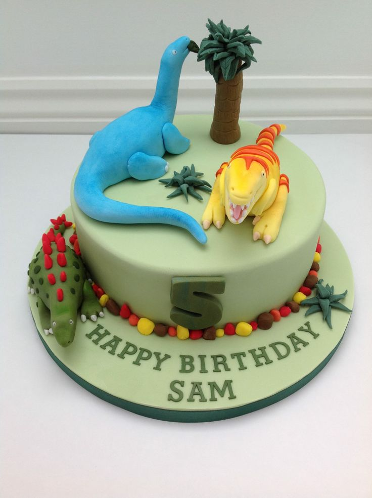 A Dinosaur Birthday Cake by Fancy Fondant 2nd Birthday ...