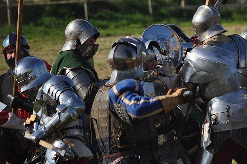 Towton battle re-enactment.