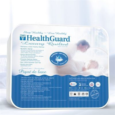 HealthGuard HGLUMP0 Luxury Quilted Mattress Protector