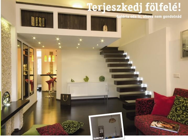 design by Xenia Studio Living room  Floating stair