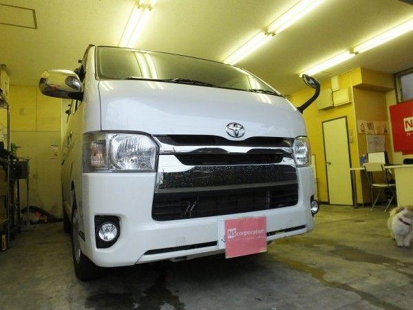 トヨタ ハイエースワゴン 99%UVカット ルミクールSD スモークフィルム 施工