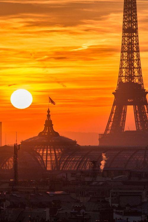 Coucher de soleil sur Paris ~ ღ Skuwandi