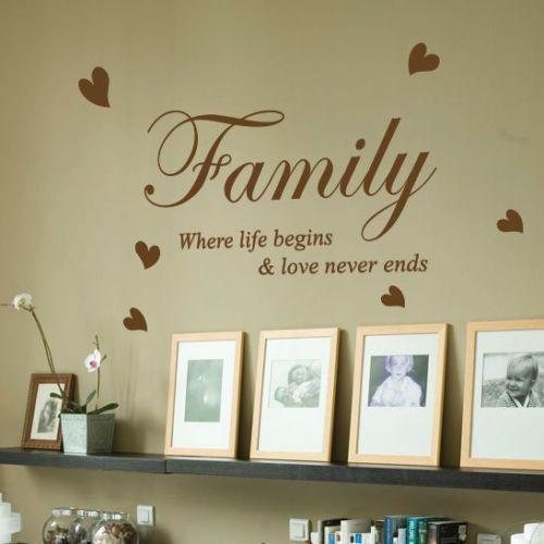 Aliexpress.com: Koop familie waar het leven begint liefde hart vinyl kunst aan de muur citaat muur stickers stickers home decor wall decor sticker muurschildering van betrouwbare sticker zak leveranciers op Yan Ding Trade Co., Ltd.