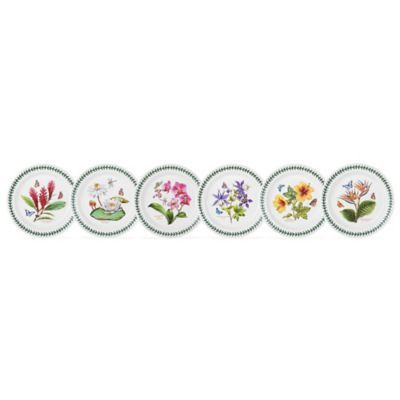 Create a stunning table inspired by the beauty of the natural outdoors with the Portmeirion Exotic Botanic Garden Assorted Dinner Plates. Crafted of fine earthenware, these exquisitely detailed plates are designed with delightful, colorful herbal motifs.