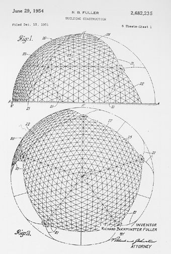 Buckminster Fuller. For me this is where the love for design all started from. A simple triangle.