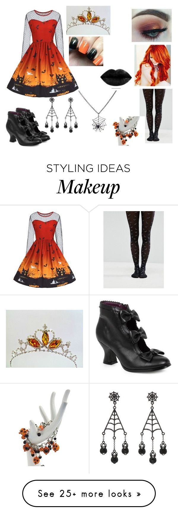 """Halloween Queen of Scream"" by judycrawford427 on Polyvore featuring Morphe, ASOS, George, Grandin Road and Carole"