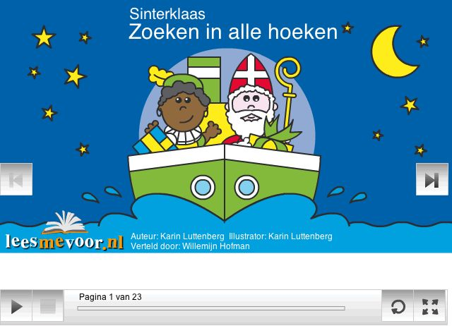 """Voorleesverhaal voor Sinterklaas: """"Zoeken in alle hoeken"""" van Frokkie en Lola."""
